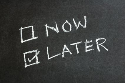 Lucka 3 och 4 – Sluta förhala och kom igång